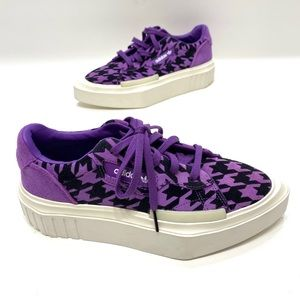 Adidas Hypersleek purple/black platform shoes NWT